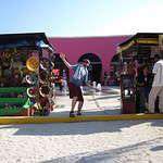 Dancing on the pier of Costa Maya (after many drinks!)