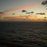sunset at sea day 1